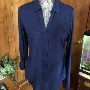 Navy Converse Roll Sleeve Shirt